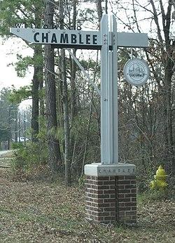 Willkommen bei Chamblee Zeichen