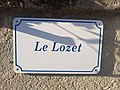 Chambost-Allières - Plaque Le Lozet (mai 2019).jpg