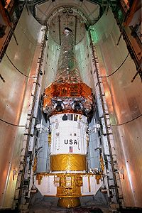 Chandra X-ray Observatory inside the Space Shuttle payload bay.jpg
