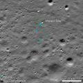 Chandrayaan-2 Vikram lander Impact Ejecta with scalebar.png