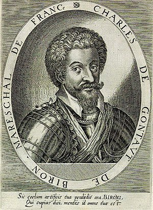 Charles de Gontaut, duc de Biron - Engraved portrait from Atrium heroicum Caesarum..., (Augsburg) 1600-02