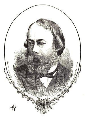 Charles Edward Mudie - Charles Edward Mudie by Frederick Waddy (1872)