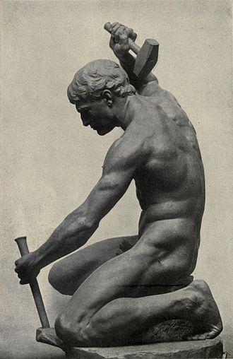 Charles Henry Niehaus - The Driller (1901), Edwin Drake Memorial, Titusville, Pennsylvania.