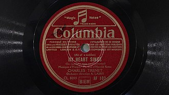 Charles Trenet - Charles Trenet. My heart sings (78 rpm Columbia)