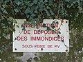 Charly - Panneau interdiction de déposer des immondices (avr 2019).jpg