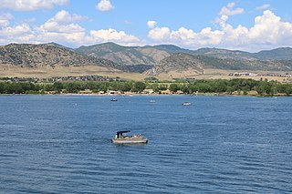 Chatfield Reservoir lake in Colorado, United States of America
