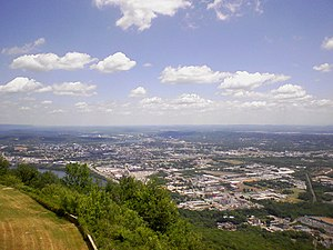 Chattanooga, Tennessee from Lookout Mountain.