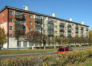 Khrushchyovka - Brick khrushchovka in Cheboksary.