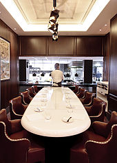Table In Restaurant : The chefs table at Marcus restaurant, [1] in Knightsbridge