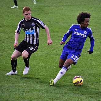 Jack Colback - Colback marking Willian in a 2–0 loss against Chelsea on 10 January 2015.
