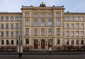 Chemnitz University of Technology - TU Chemnitz, main building entrance, Straße der Nationen