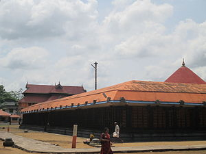 Chengannur Mahadeva Temple - Temple tower along with the sanctum