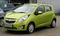 Chevrolet Spark LS+ 1.2 – Frontansicht, 26. Juni 2011, Mettmann.jpg
