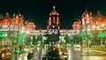 Chhatrapati Shivaji Terminus railway station in tricolor.jpg