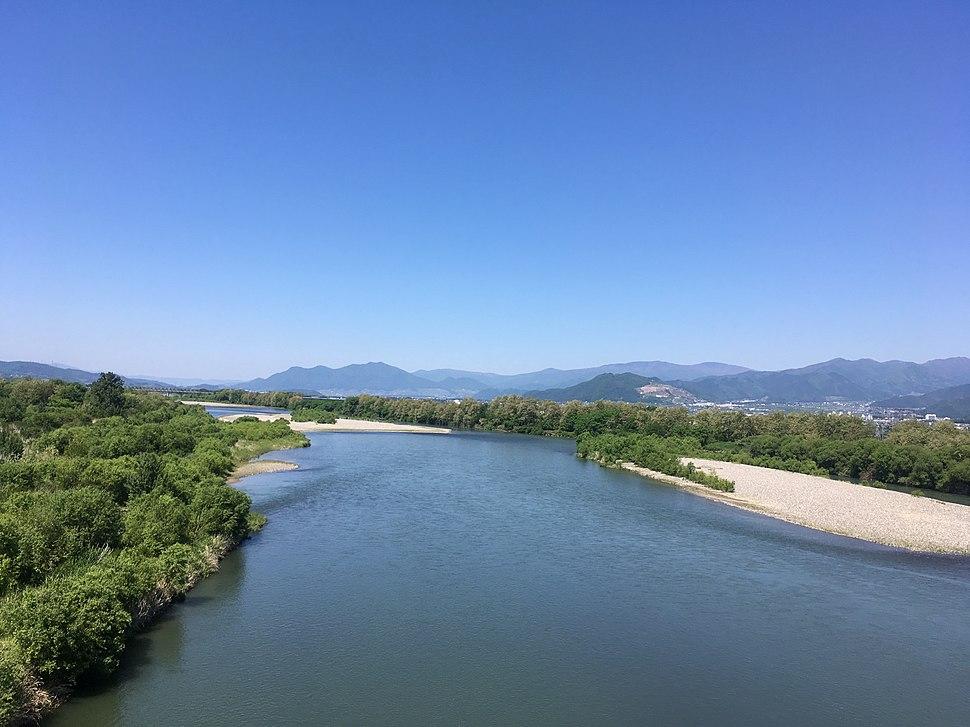 Chikuma River Yashima Bridge Nagano