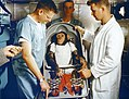 Chimpanzee Ham in Biopack Couch for MR-2 flight MSFC-6100114.jpg