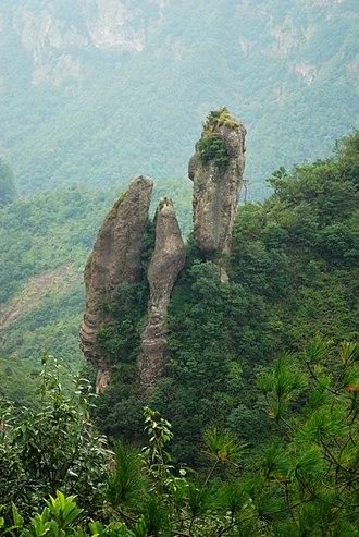 Yandang Mountains - Rock formation in the Yandang Mountains