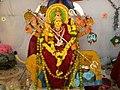 Chinalingala Dussera 2013 Sri Mahishasuramardhini devi Alamkaram by Girikonda.jpg