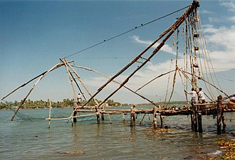 Chinese fishing nets - Image: Chinese Fishing Net (Kochi, India)