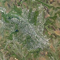 Chişinău seen from Spot Satellite