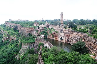 Rajput - Chittor Fort, built by a dynasty of Sisodia Rajputs, is one of the largest forts in India.