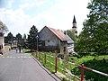 Chlumec, Krušnohorská, Chlumecký potok, Martínkovna a kostel svatého Havla (02).jpg