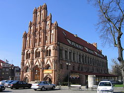 Gothic Ratusz town hall in Chojna