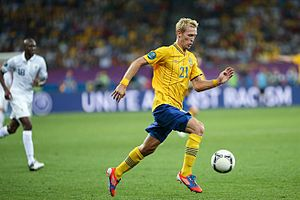 Christian Wilhelmsson - Wilhelmsson playing for Sweden at Euro 2012