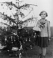 Christmas, present, kid, toy doll, girl, portrait Fortepan 4649.jpg