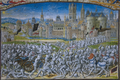 Chroniques de Froissart (15e eeuw) - Slag op het Beverhoutsveld.png