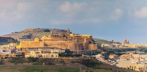 Invasion of Gozo (1551) - Image: Citadel in Victoria