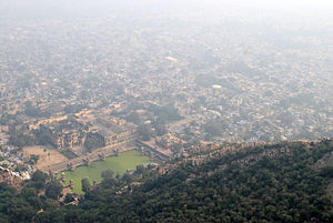 Alwar fort - View of city of Alwar from Bala Quila.