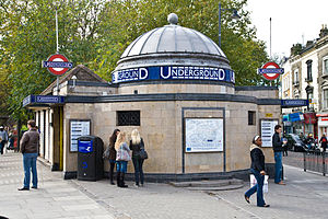 Clapham Common tube station - Western entrance