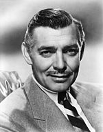 Black an white promo photo o Clark Gable.