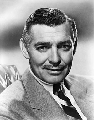 Leading man - American actor Clark Gable was a leading man in over 60 major Hollywood productions.