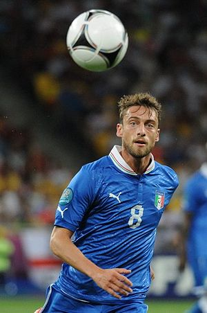 Claudio Marchisio - Marchisio in Italy's Euro 2012 quarter-final match against England.