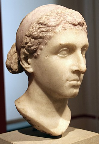Ptolemy XIII Theos Philopator - Roman bust of Cleopatra VII, Altes Museum, Antikensammlung Berlin