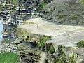 Cliffs of Moher shale and sandstone layers.JPG