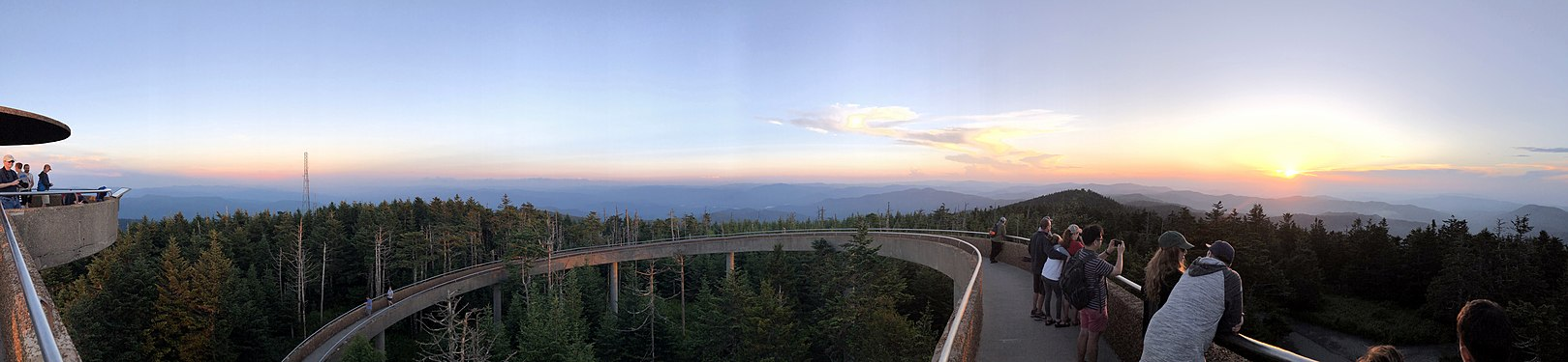 Clingmans Dome panorama at sunset - July 2019.jpg