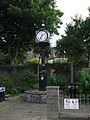 Clock in Royal British Legion square adjacent to Castle Rushen - geograph.org.uk - 1467262.jpg