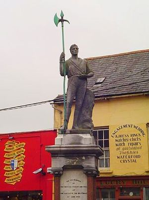 Clonakilty - Battle of the Big Cross statue, Clonakilty.