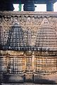 Close up of outer wall relief at Amruteshvara temple in Amruthapura, Chikkamagaluru district.JPG