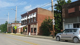 National Register of Historic Places listings in Breckinridge County, Kentucky - Image: Cloverport Historic District