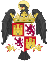 Coat of Arms of Isabella of Castile as Princess of Asturias (with crest).svg
