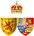 Coat of arms of Anne of Denmark as Queen consort of Scots.png
