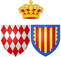 Coat of arms of Antoinette de Mérode as Princess of Monaco.png