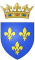 Coat of arms of Louis, Duke of Burgundy (future Dauphin of France, father of Louis XV).png