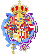 Coat of arms of Princess Alicia of Bourbon-Parma as Infanta of Spain.png