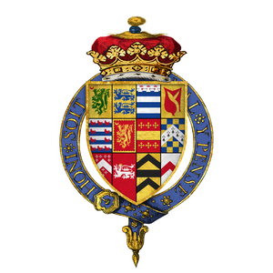 Arms of John Dudley as Duke of Northumberland Coat of arms of Sir John Dudley, 1st Duke of Northumberland, KG.png