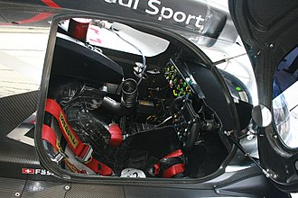 Audi R18 - Cockpit of the R18.